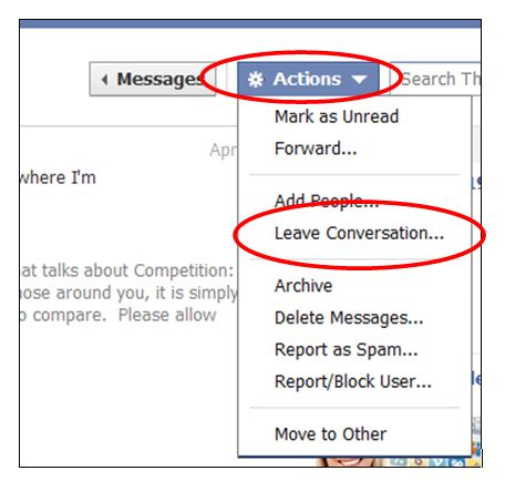 How to Remove Yourself from Message Threads on Facebook | Direct Sales ...
